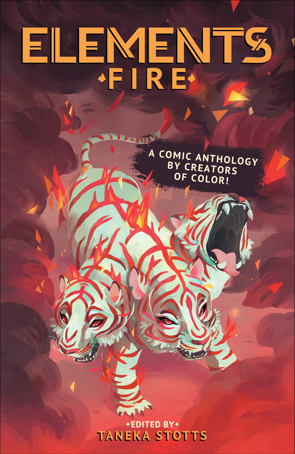 - ELEMENTS: FIRE - publisher / editor(Beyond Press, 2016)An all-ages anthology focused on creators of color sharing comics with a fire theme, ranging from sci-fi & fantasy to alternative cyberpunk, humor, and suspense.