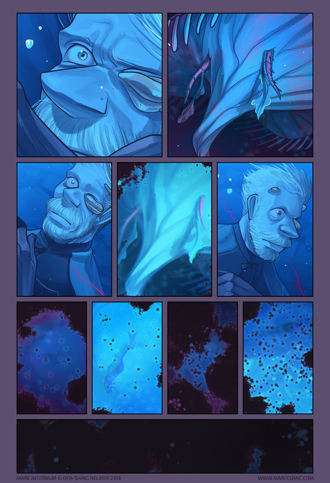 - MARE INTERNUM(ongoing at http://www.marecomic.com/)Mare Internum is an award-winning online science fiction graphic novel about the isolated inhabitants of the planet Mars, and the ability of life to persist through darkness.