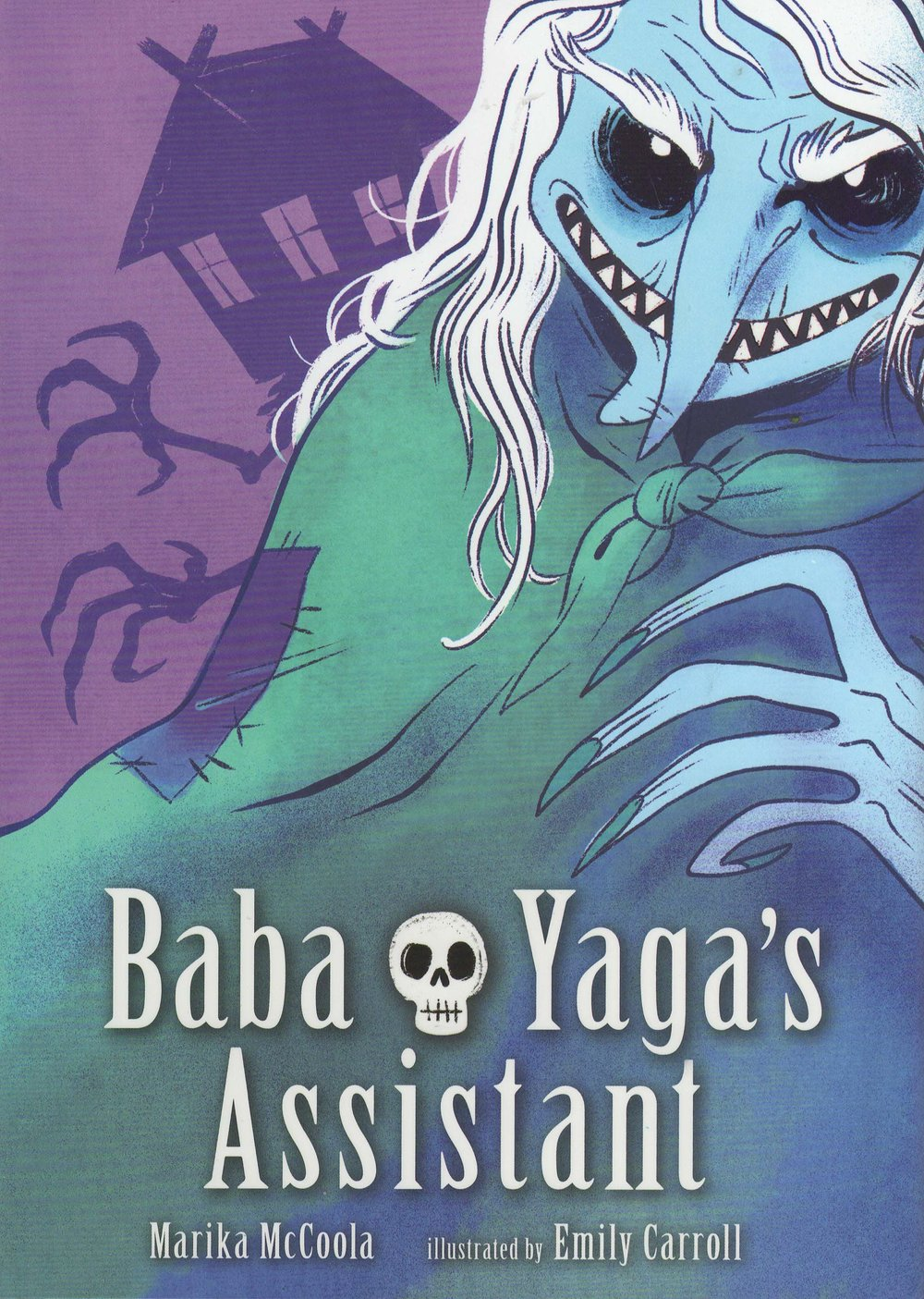 - BABA YAGA'S ASSISTANT -artist(Candlewick, Aug.2015)New York Times Bestseller!2015 NEIBA Book Award winner2015 Junior Library Guild selection2016 Eisner Award nomineeTranslations: licensing@candlewick.comFrance (Editions Kinaye)Most children think twice before braving a haunted wood filled with terrifying beasties to match wits with a witch, but not Masha. Her beloved grandma taught her many things: that stories are useful, that magic is fickle, that nothing is too difficult or too dirty to clean. The fearsome witch needs an assistant, and Masha needs an adventure. She may be clever enough to enter Baba Yaga's house, but within its walls, deceit is the rule. To earn her place, Masha must pass a series of tests, outfox a territorial bear, and make dinner for her host. No easy task, with children on the menu!