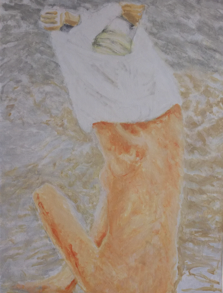 Figure and Water,  Oil on Canvas, 34 x 48 inches, 2015 2