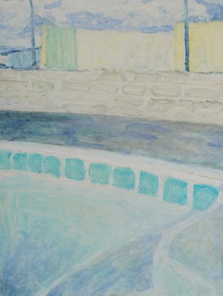 Empty Pool, Oil on Wood