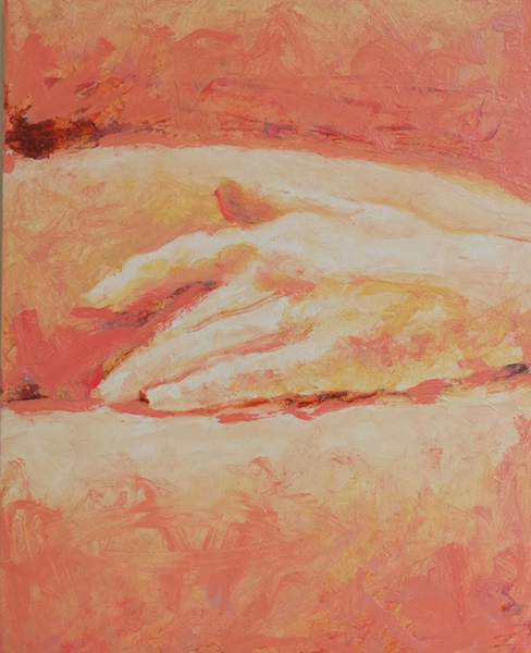 Hand,  Oil on Wood