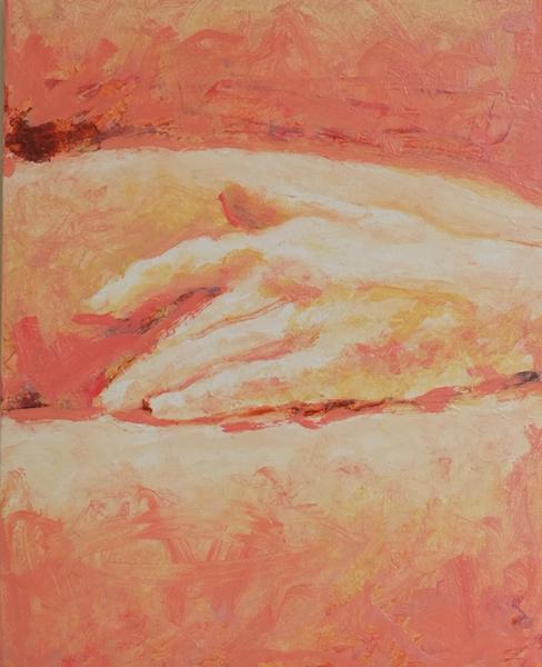 Hand, Oil on Wood