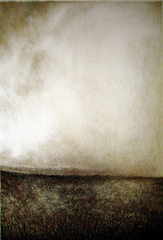 Dark Cloud,  Graphite and Oil Crayon on Paper, 16 x 22 inches, 2012