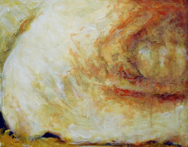 Vessel Bone, Oil on Wood