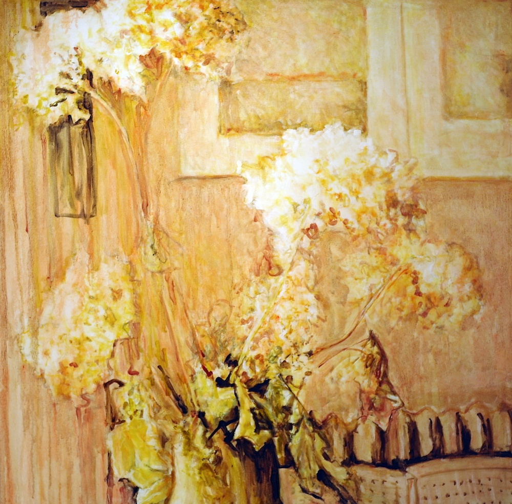 Brown Flowers,  Oil on Canvas, 48 x 48 inches, 2014 8