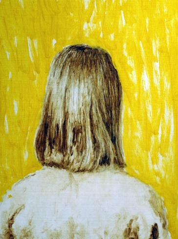 Looking Through Yellow,  Oil on Wood