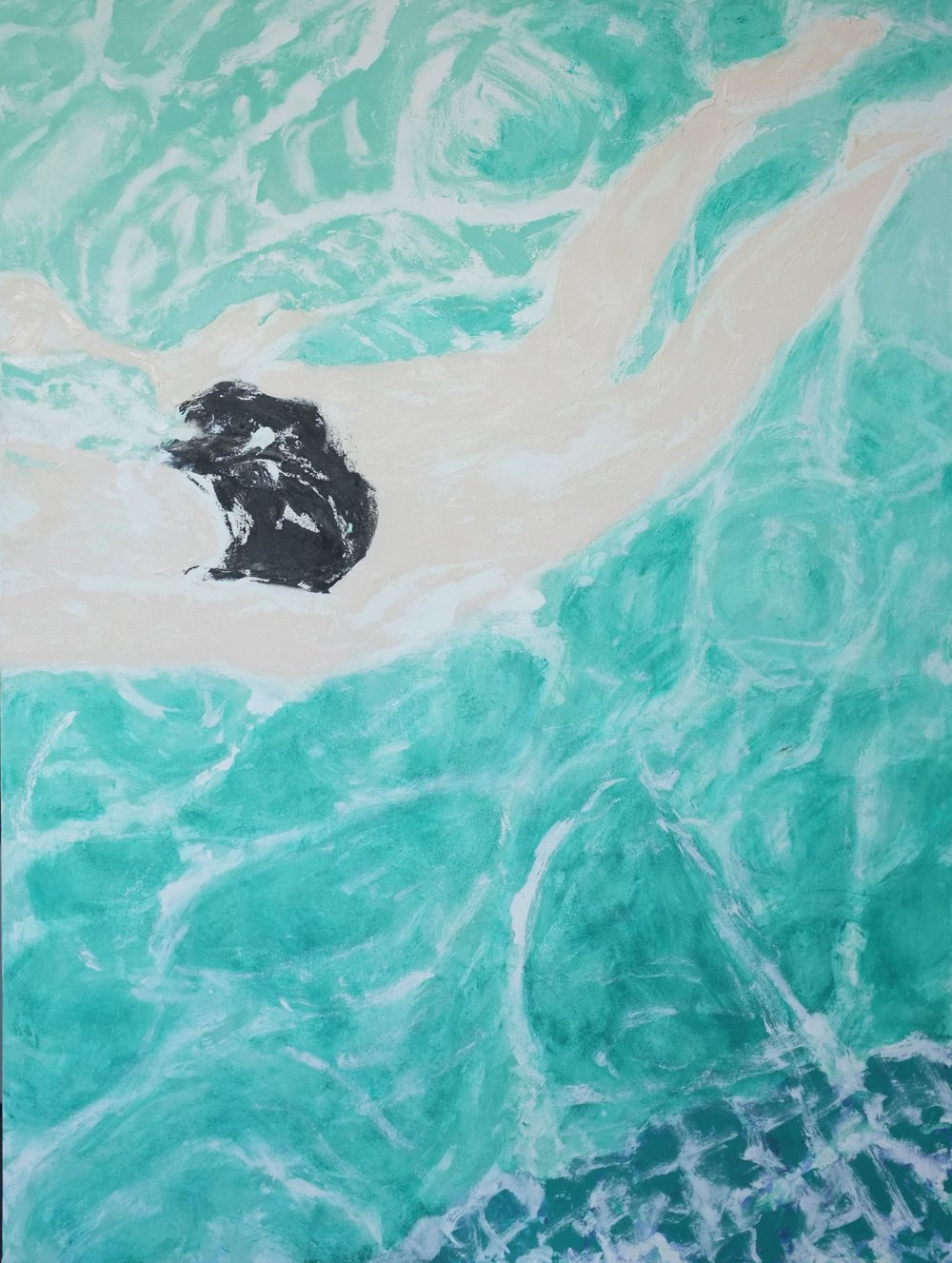 Swimmer,  Oil on Canvas