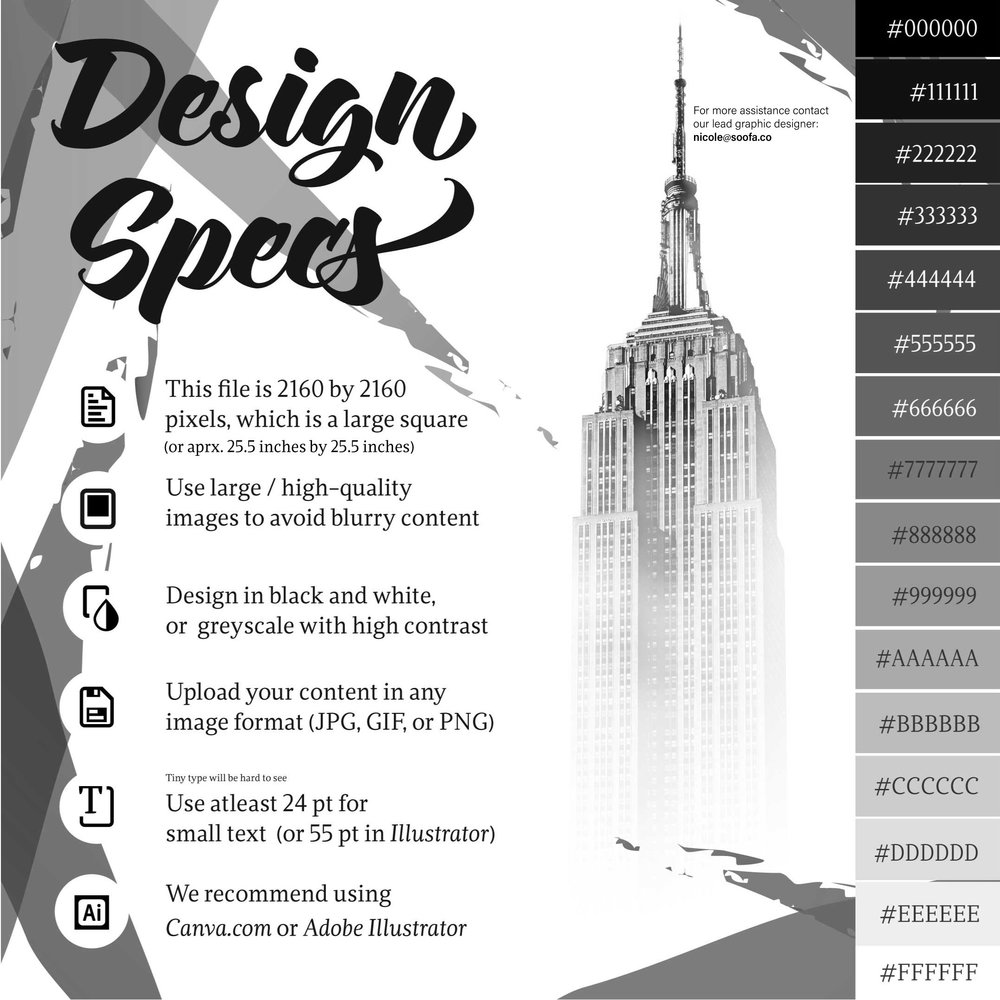 Design specifications for e-Ink advertisements. Click image for full-size.