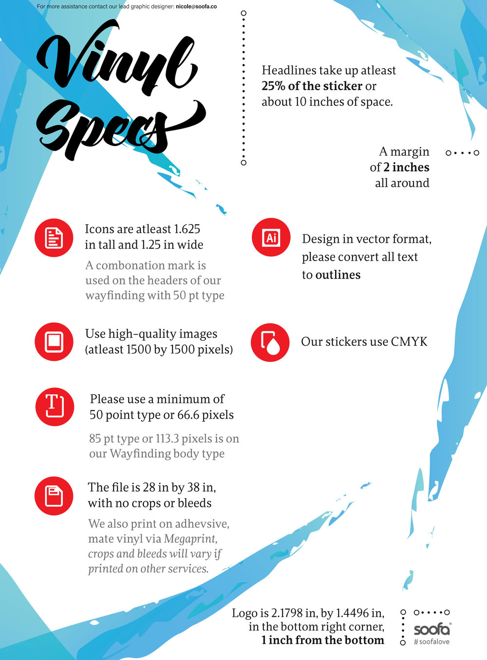 Design specifications for adhesive vinyl decal advertisements. Click image for full-size.