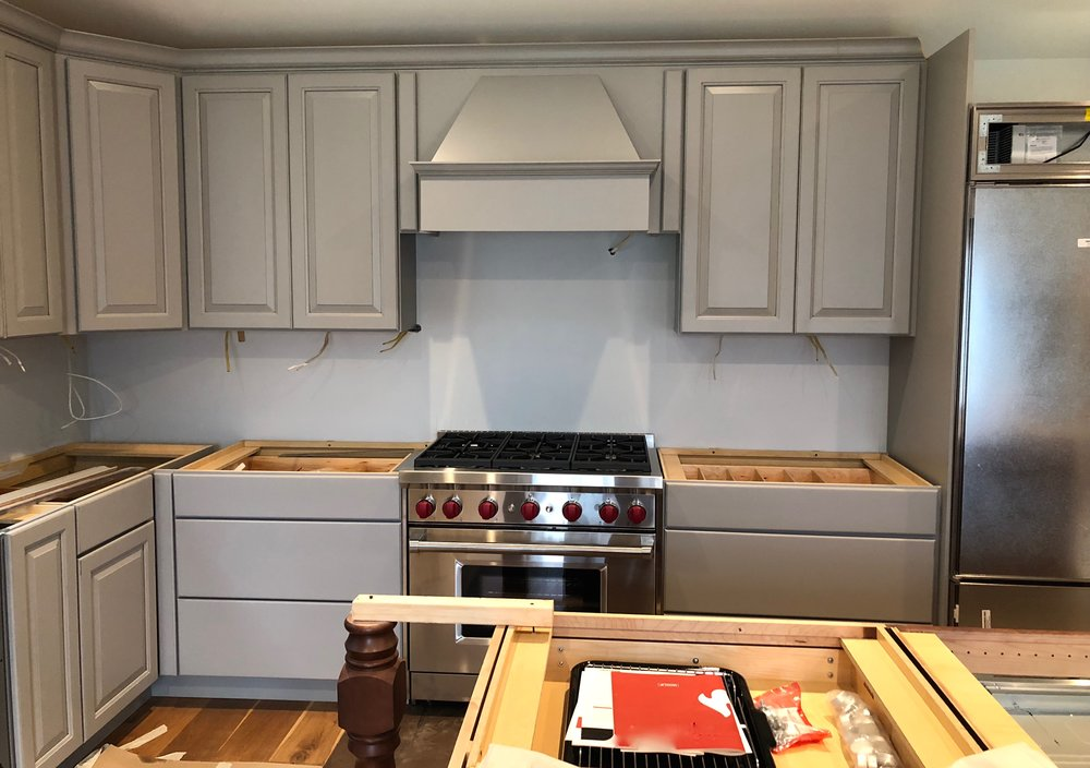 Custom backsplash design and installation in a lakeside home in Averill Park.