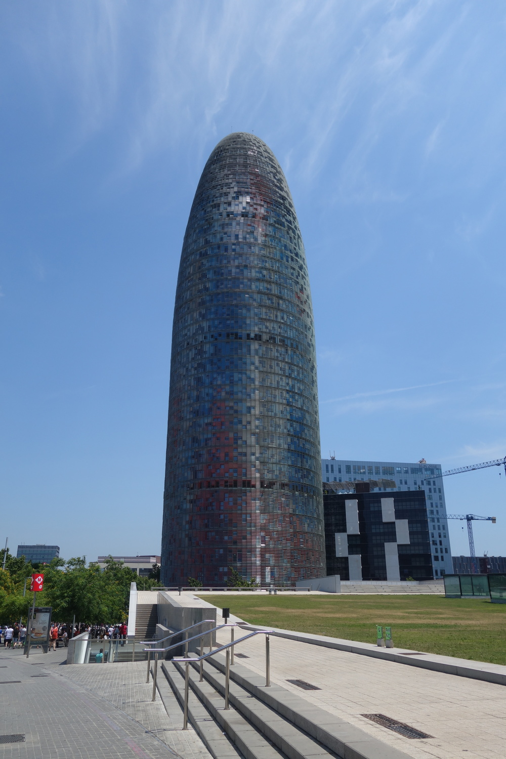 The Agbar Tower in Barcelona, Spain
