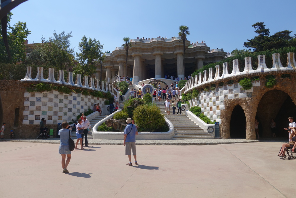 This photo of Park Guell was taken by inserting my camera through fence bars since I couldn't actually enter...