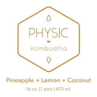 Physic Kombucha label design.