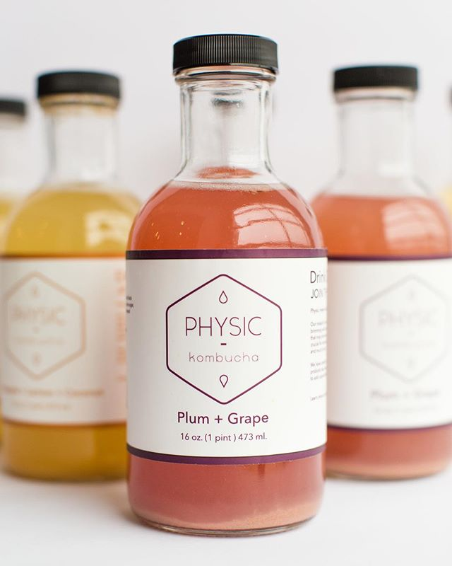 Label design for @physickombucha #kalamazoo #design