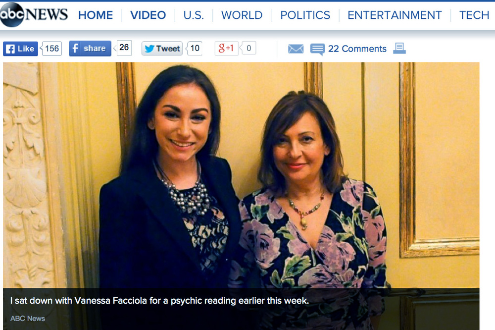 ABC News Go, June 19, 2015:   http://abcnews.go.com/Lifestyle/day-friday-emotional-psychic-experience-made-believer/story?id=31703622