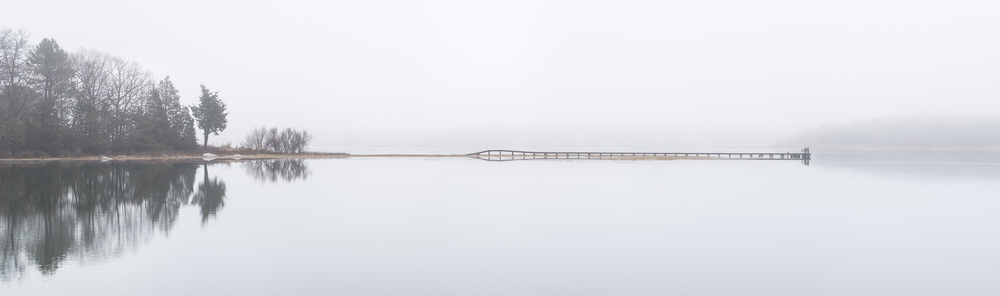 Landscape: Reflection. I struggled with this one, as the weather was difficult (raining and windy), and also because I tend find this subject a bit boring unless the landscape is truly compelling. At the last minute I grabbed this composite panorama, shot on a foggy morning at high tide in the salt marsh near my home. I love the dreamy, minimalist quality, here.  Copyright 2016 Hannah C. Nesbeda. All rights reserved.