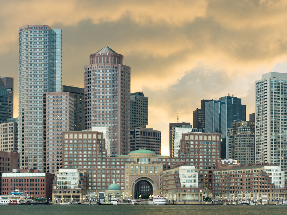 Boston Skyline After a Storm. 2015.