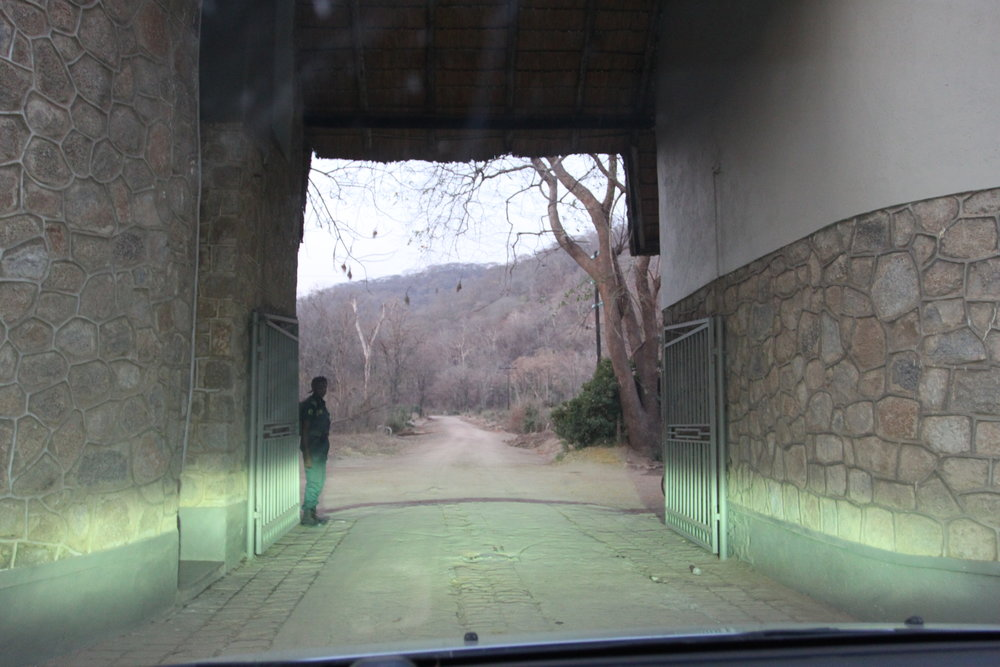 The entrance to Liwonde National Park.