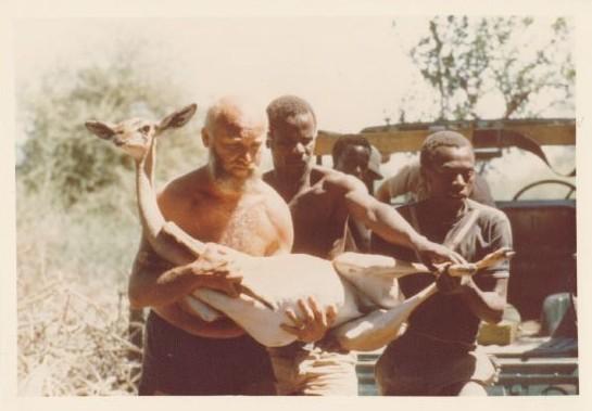 Josef Vágner on a wildlife collecting expedition in Africa. Photo courtesy Lenka Vágnerová