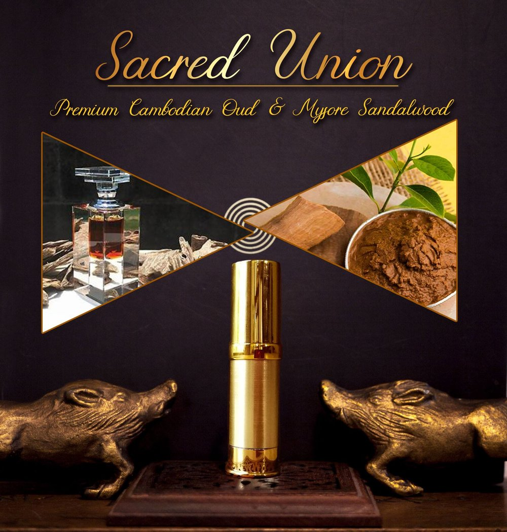 Larger size, 8ml pump bottle of Sacred Union. Purchase it  here .