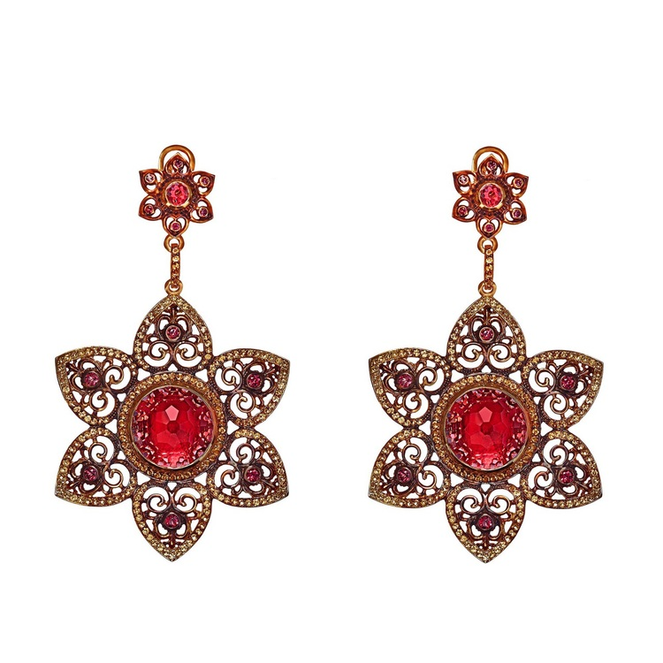 The thematic design of Axenoff Jewellery is closely linked to the very richest cultural and historical heritage of Russia. It evokes the memory and  images of Russia's people who have left a bright imprint in Russian history and in stories from Russian folkore, as well as the masterpieces of Russian art.      Alenushka Earrings by  Axenoff Jewellery