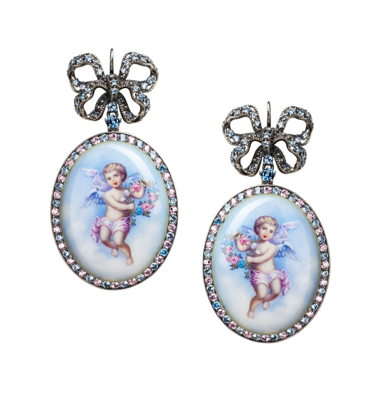 Axenoff's jewelry pieces reflect everything beautiful that one can find in the classic novels.      Angels Earrings by  Axenoff Jewellery