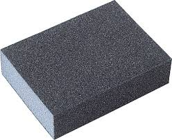 A stock photo of a typical foamy sanding block