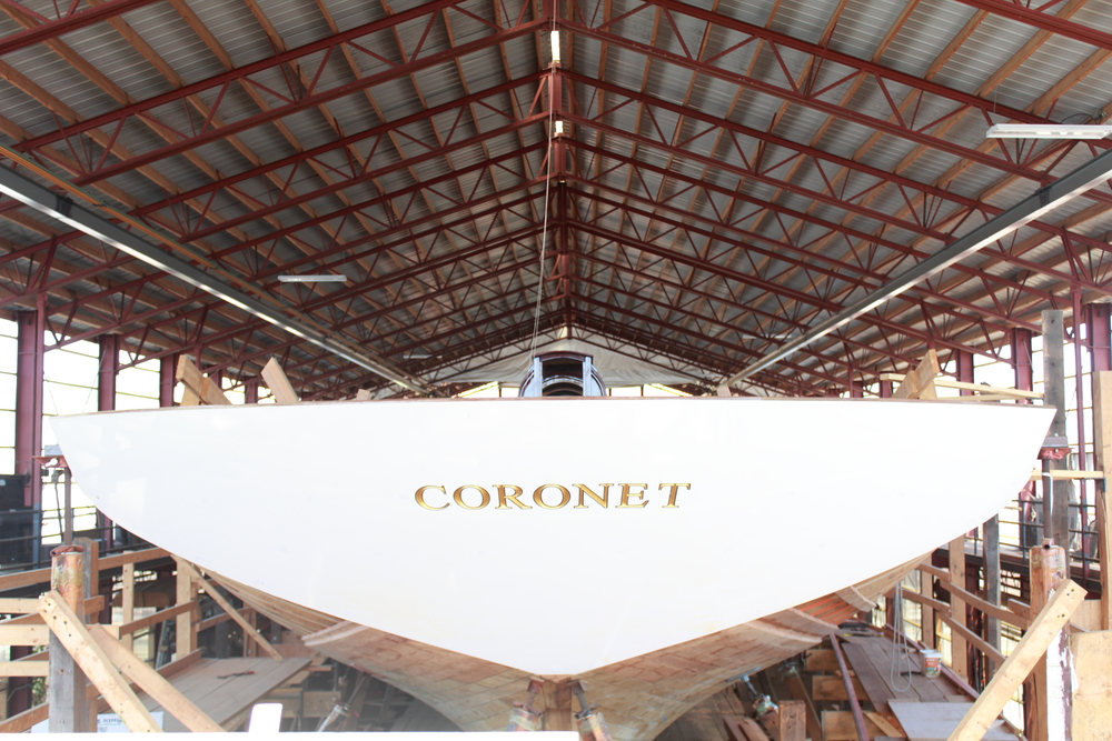 The Coronet Restoration at IYRS, Newport, RI