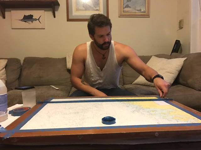 sailboat table DIY
