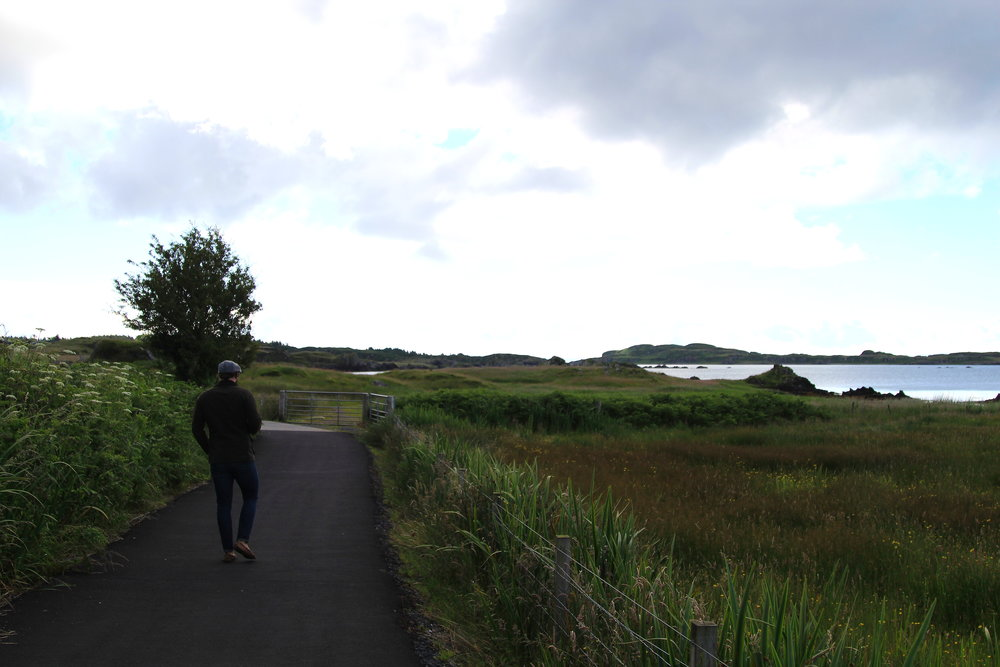 Whisky Trail in Islay is a walking path that takes you to Laphroaig, Laguvulin, and Ardbeg
