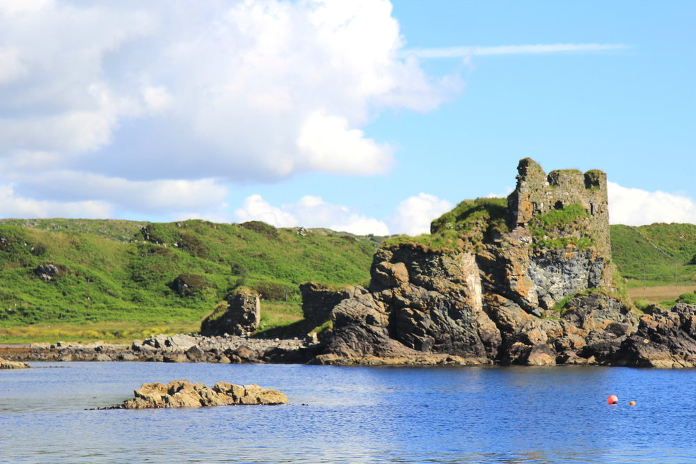 Dunyvaig Castle, Scotland, the seat of the Lord of the Isles