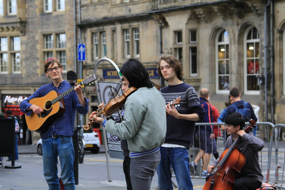 young musicians in Edinburgh