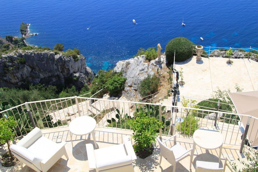 Dining at the Chevre D'Or in Eze, France
