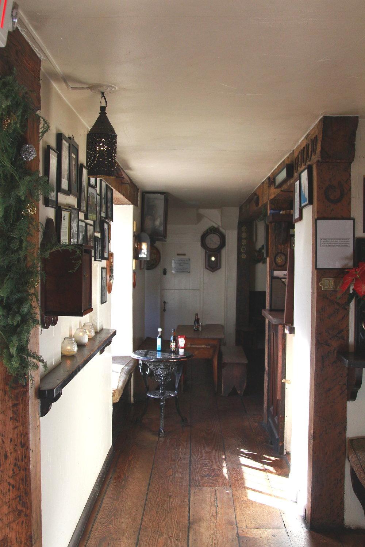 Inside the pub at the Pelican Inn, California