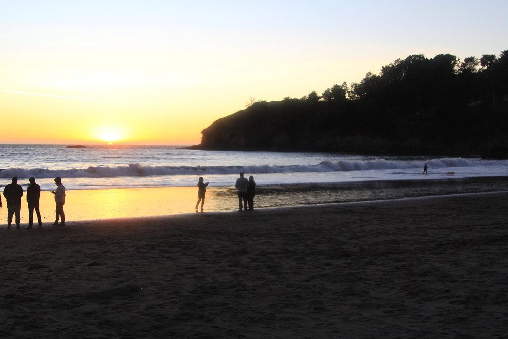 sunset on Muir Beah