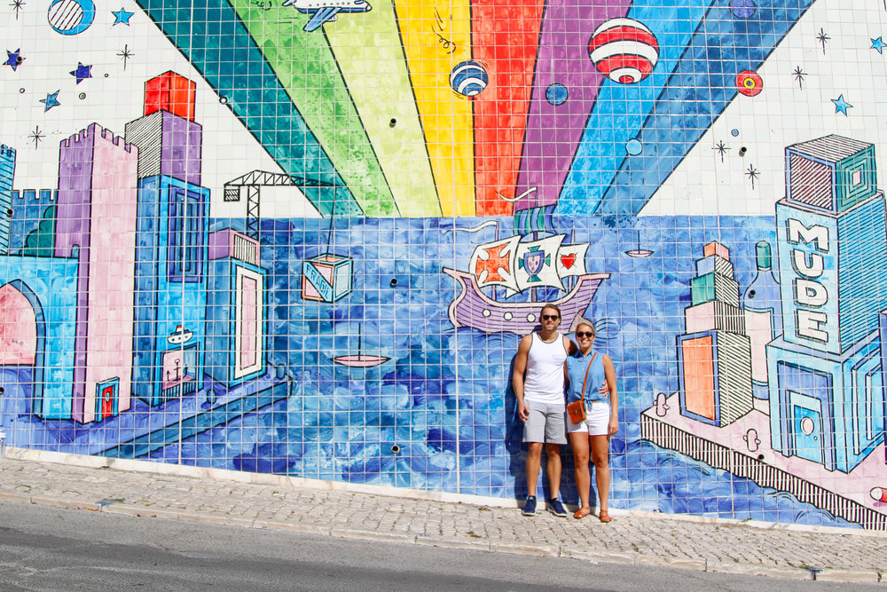 Lisbon's largest urban artwork display by André Saraiva that took two years, 9300 sq m, and 50,000 handmade tiles to complete! It's located in São Vicente de Fora, neighbor to Panteão Nacional and to the popular weekend's flea market.