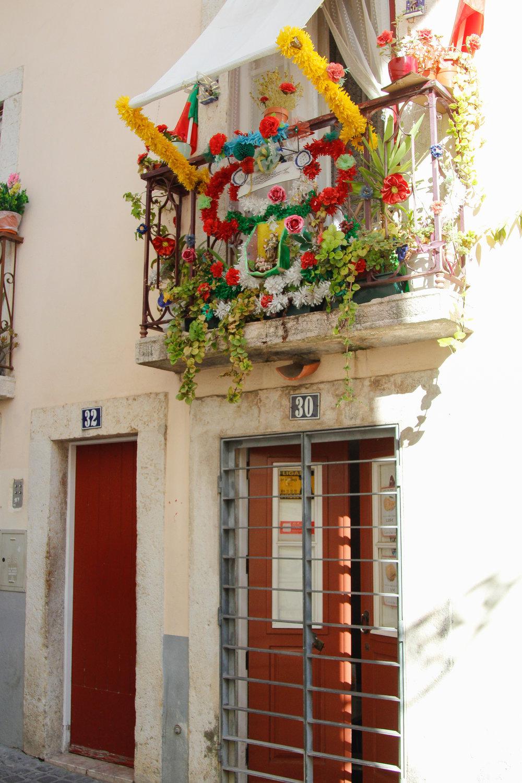 fun balcony in lisbon, portugal