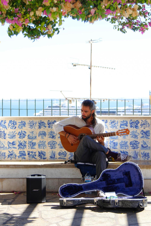 Fado musician, Portugal