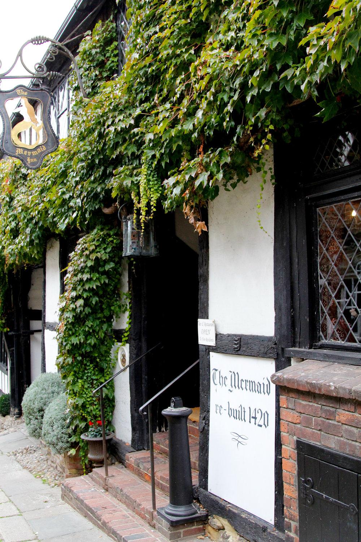 The Mermaid Inn - A haunted inn built in 1402 in Rye, East Sussex, UK