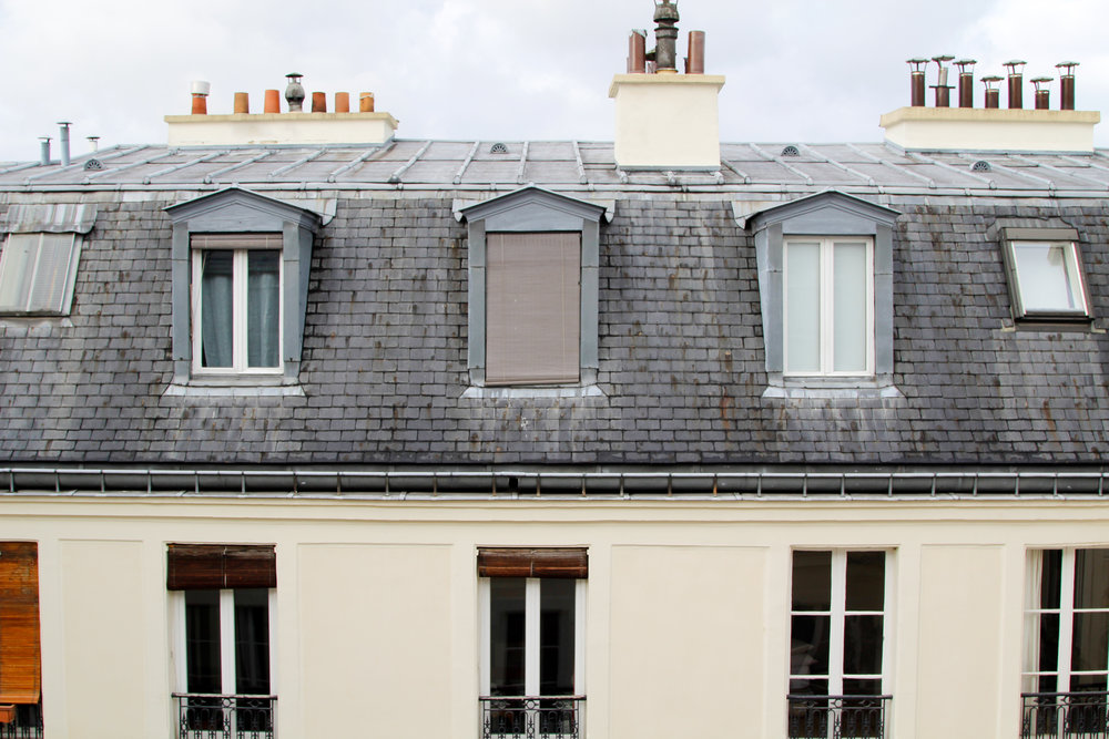 View from our Airbnb in Paris - click through to get listing!