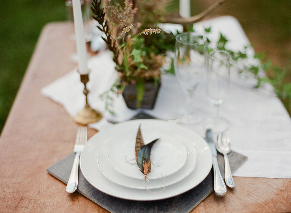 Antique Wedding Place Setting