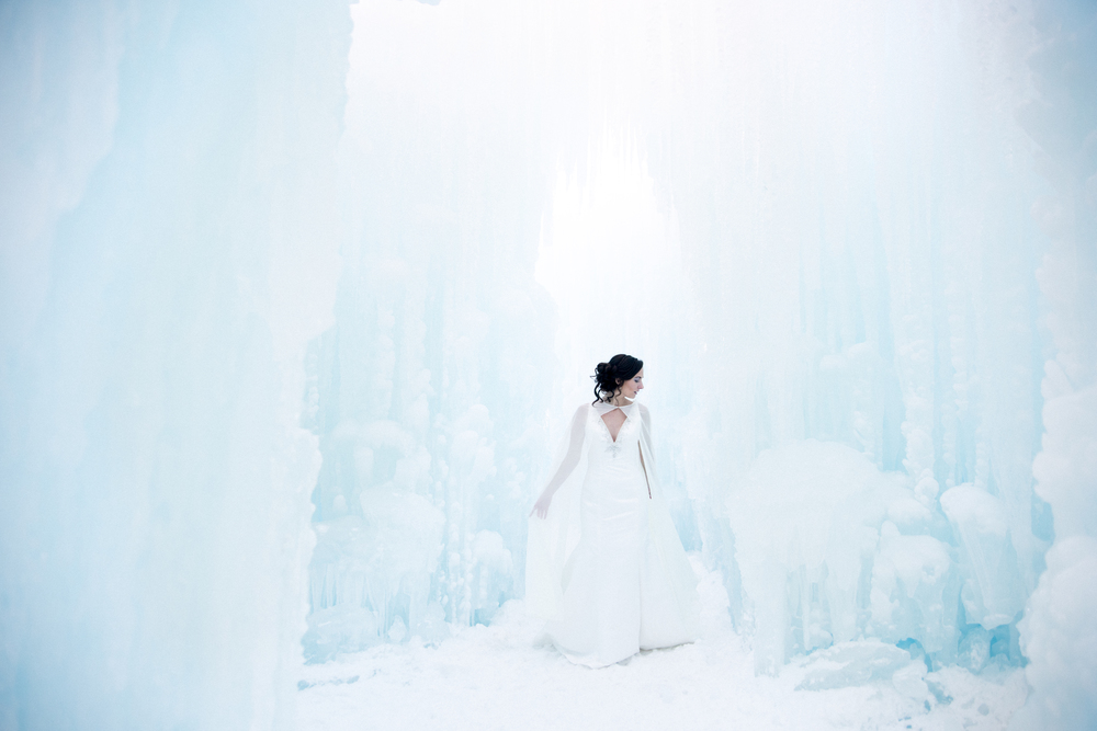 Ice Castle Bride, Lincoln New Hampshire