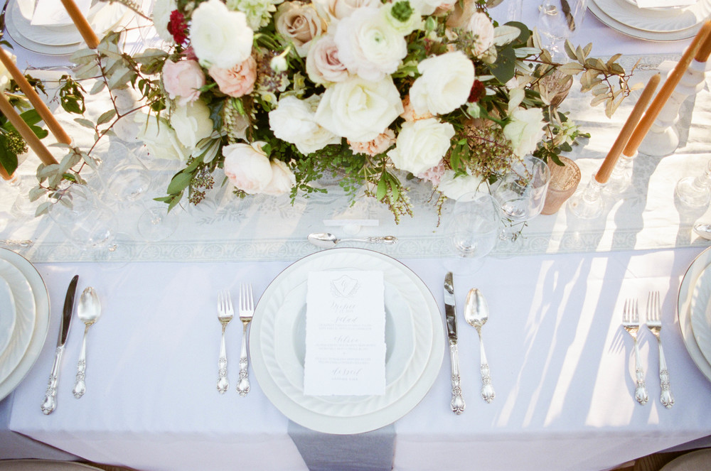 Elegant Outdoor Table Setting, Maine