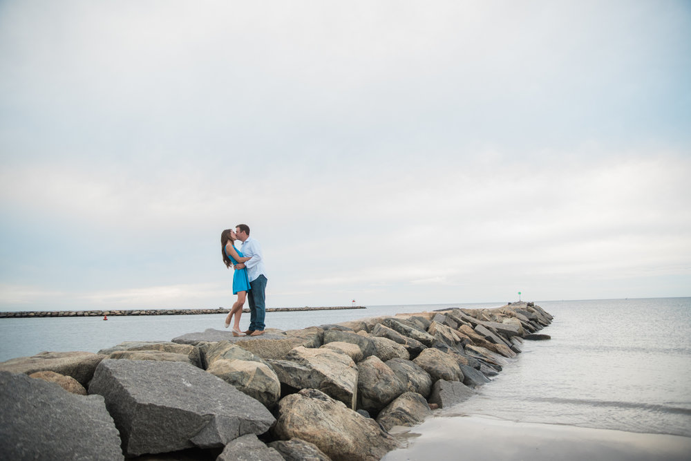 Beach Engagement Photos in MA