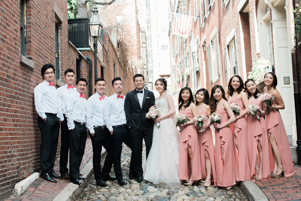 Acorn Street boston Wedding Photographers