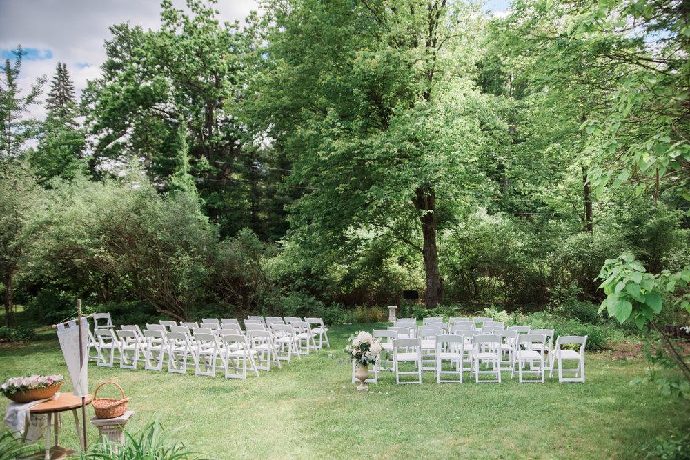 Outdoor Wedding Ceremony in Massahusetts