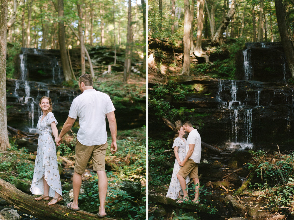 Woodland New England Engagement Session