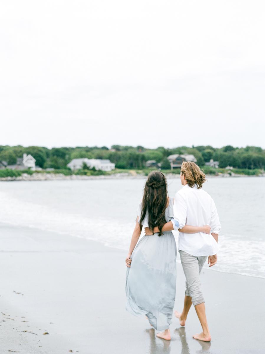 Beach Engagement Photos in RI