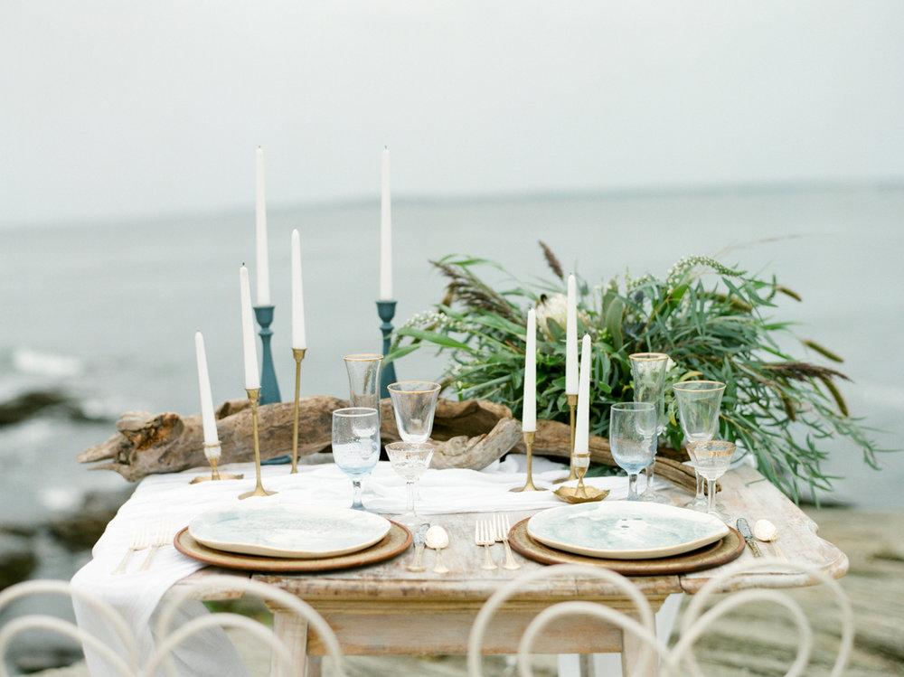 Beach wedding outdoor reception in MA